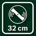 Диаметр ножа у газонокосилки Bosch Rotak 32 составляет 32 см.