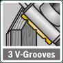 3 V-образных паза