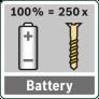 Продолжительность работы аккумуляторной батареи