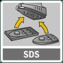 Замена принадлежностей без дополнительного инструмента (Bosch SDS)